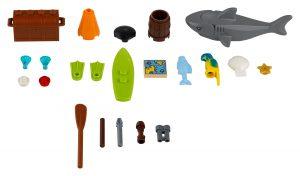 accessoires nautiques lego 40341 xtra