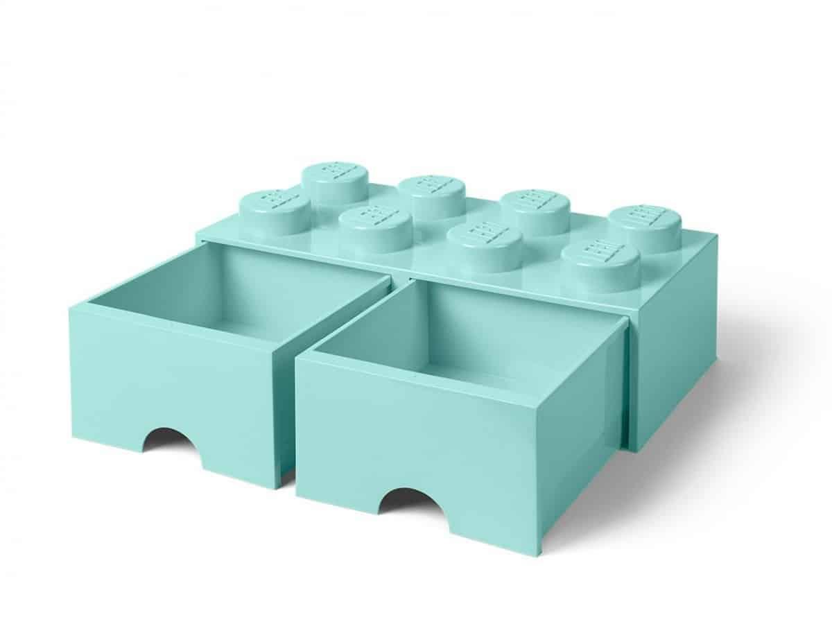 brique bleu clair aqua de rangement lego 5006182 a tiroir et a 8 tenons scaled