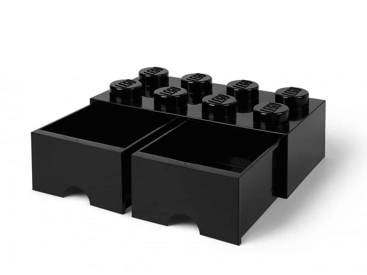 brique noire de rangement lego 5006248 a tiroir et a 8 tenons scaled