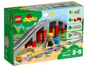lego 10872 les rails et le pont du train