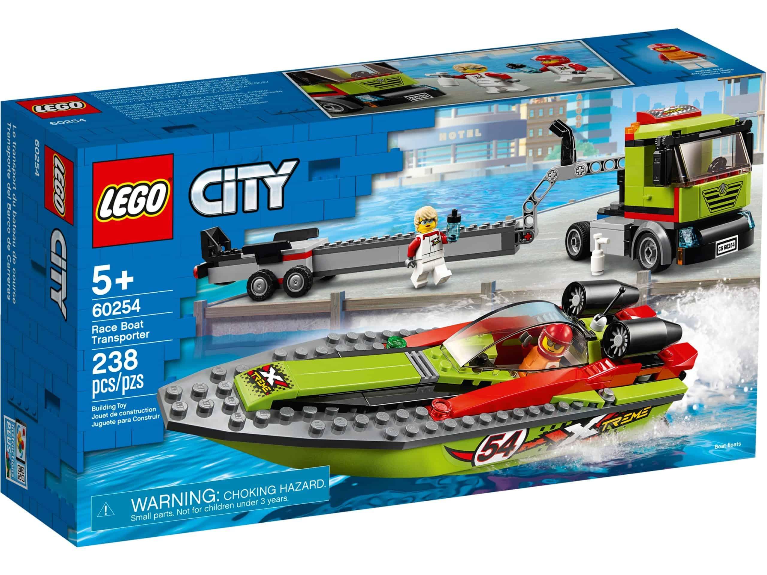 lego 60254 le transport du bateau de course scaled