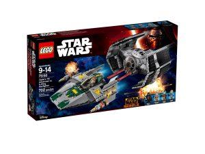 lego 75150 le tie advanced de dark vador contre la wing starfighter
