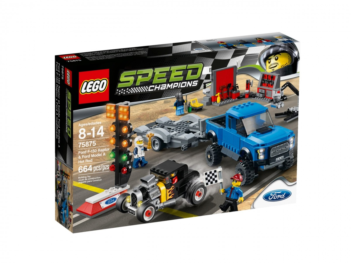 lego 75875 ford f 150 raptor et le bolide ford modele a scaled