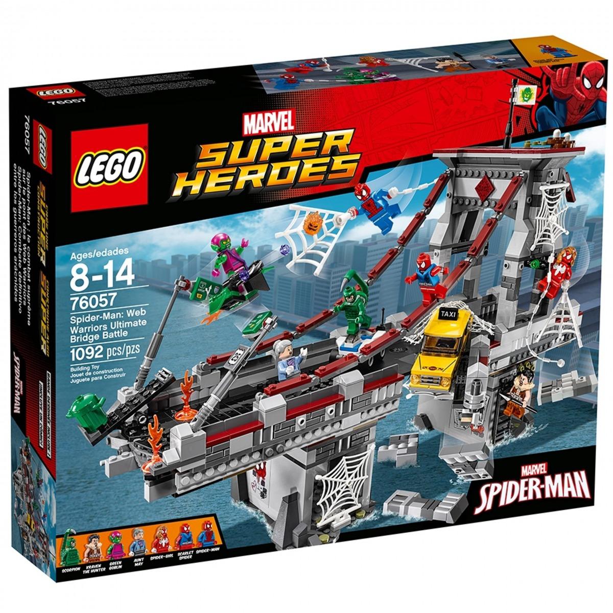 lego 76057 spider man le combat supreme sur le pont des web warriors scaled