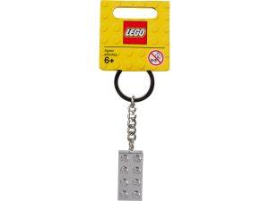 lego 851406 porte cles brique metallisee 2x4