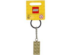 porte cles brique lego 850808 doree