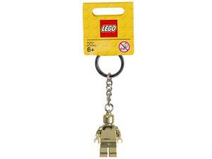 porte cles figurine doree lego 850807