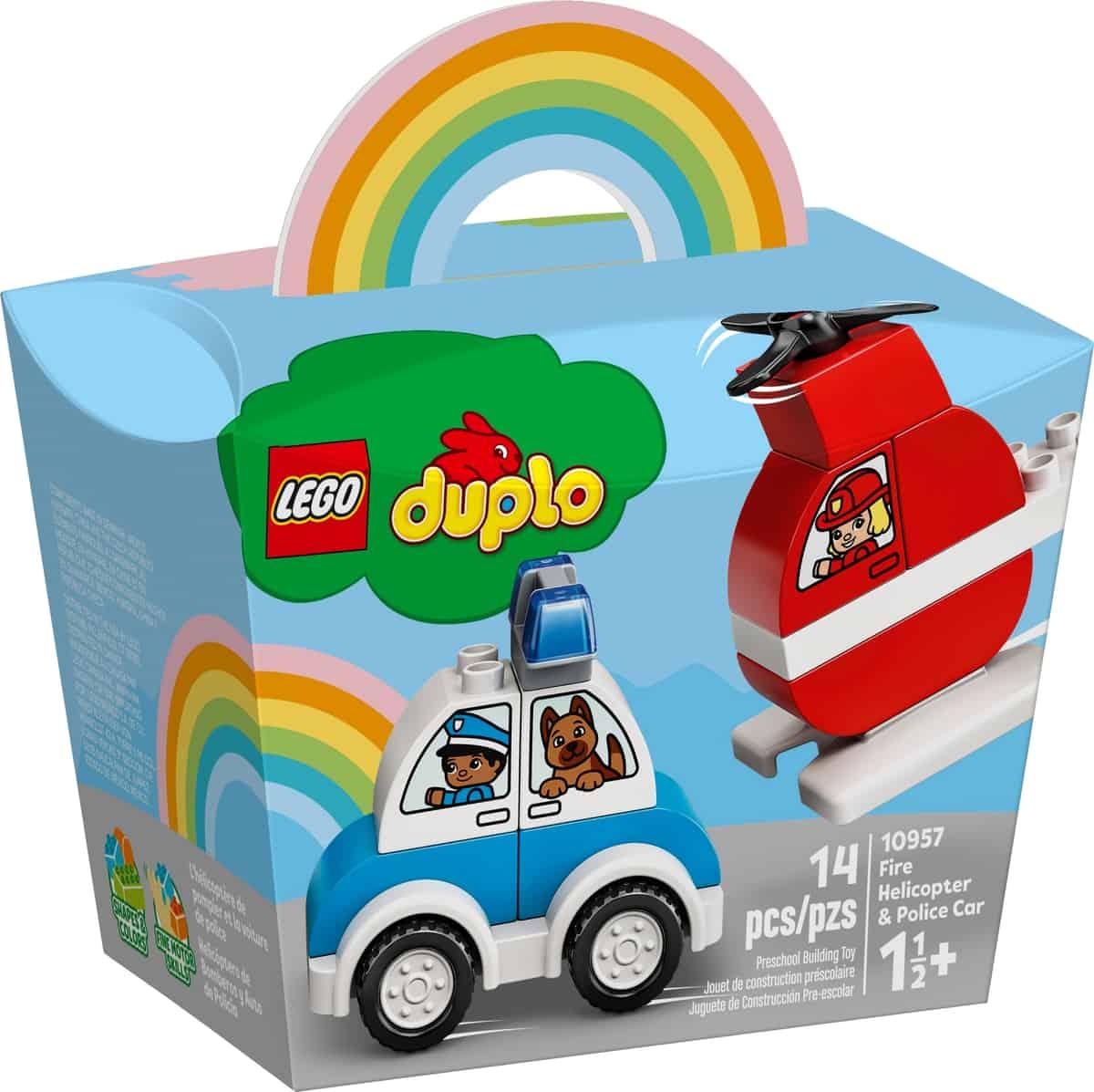 lego 10957 lhelicoptere des pompiers et la voiture de police