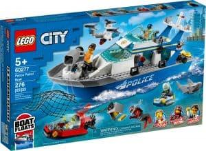 lego 60277 le bateau de patrouille de la police