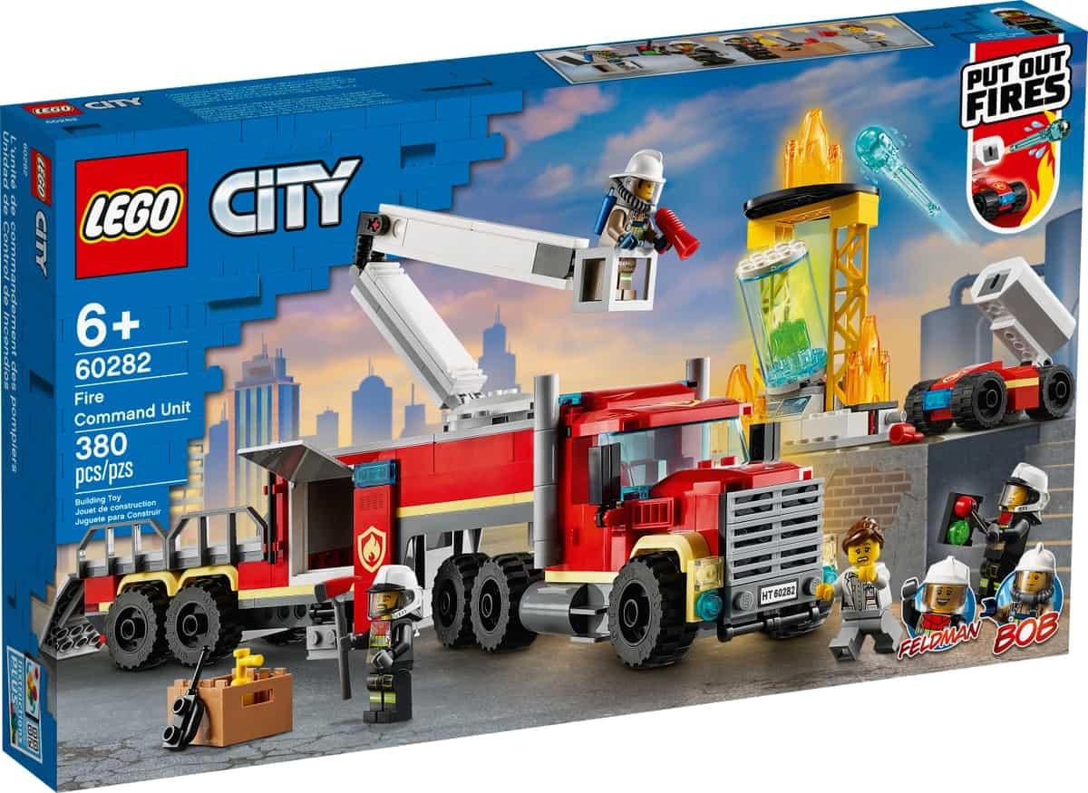 lego 60282 lunite de commandement des pompiers
