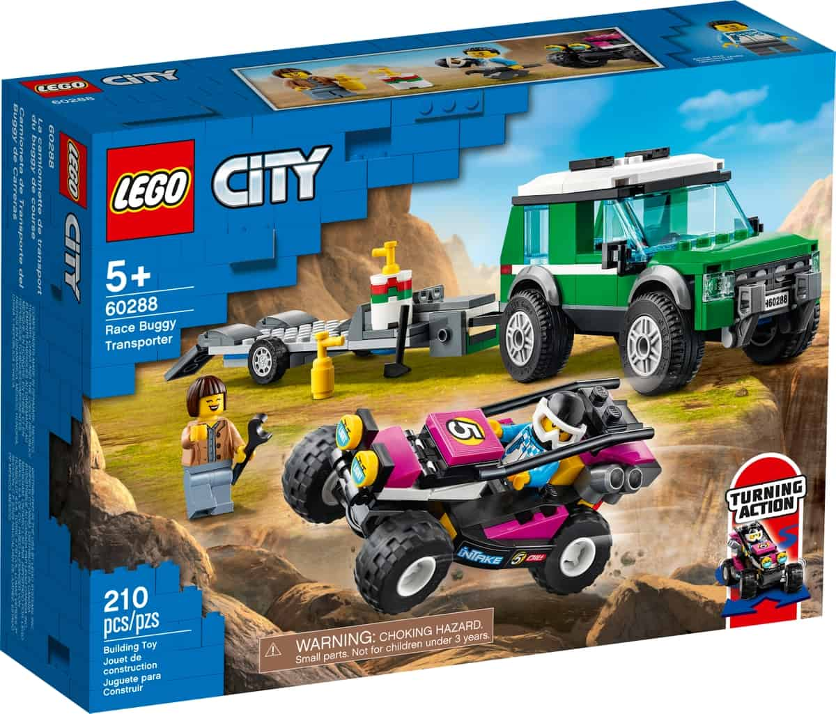 lego 60288 le transport du buggy de course