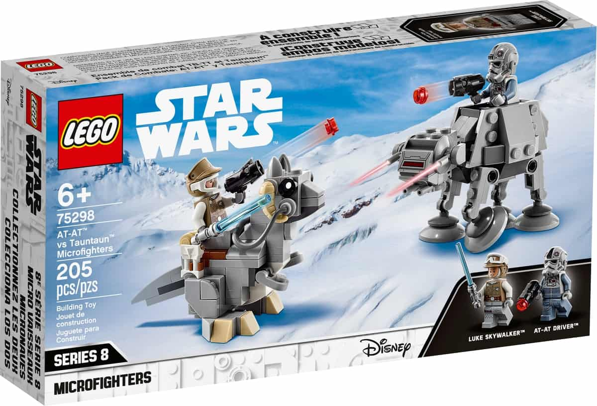 lego 75298 microfighters at at contre tauntaun
