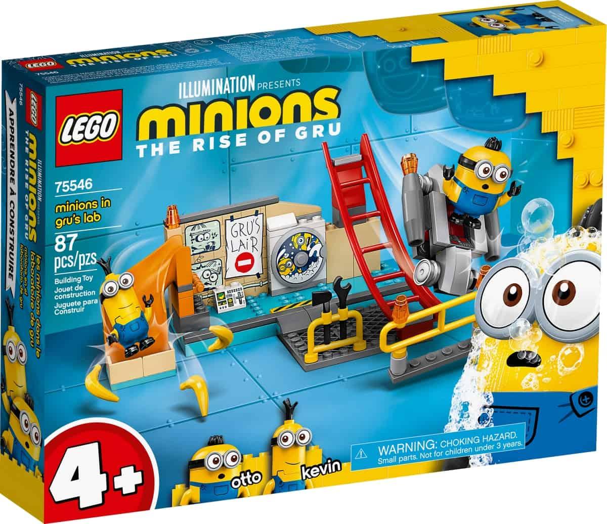 lego 75546 les minions dans le laboratoire de gru