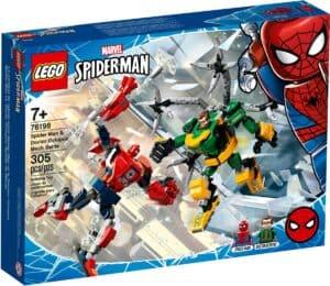 lego 76198 la bataille des robots de spider man et docteur octopus