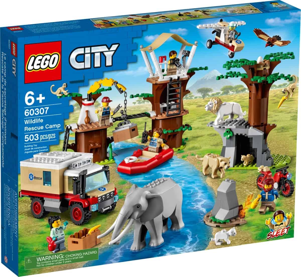 lego 60307 le camp de sauvetage des animaux sauvages