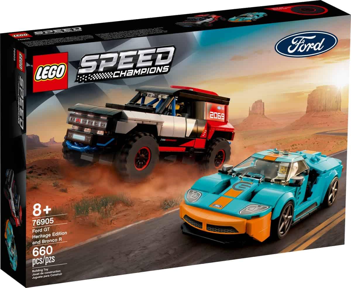 lego 76905 ford gt heritage edition et bronco r