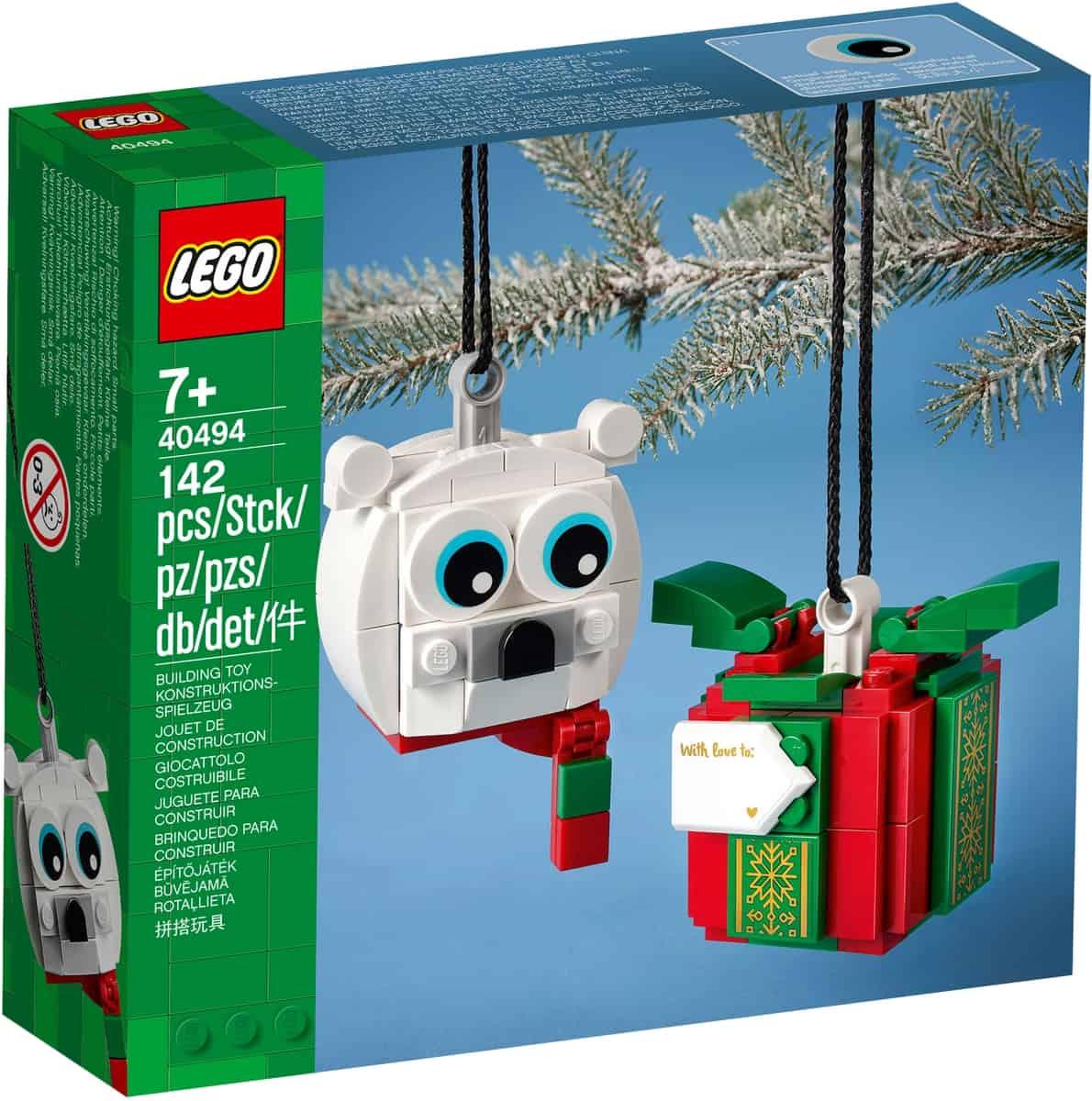 lego 40494 ensemble ours polaire et cadeau