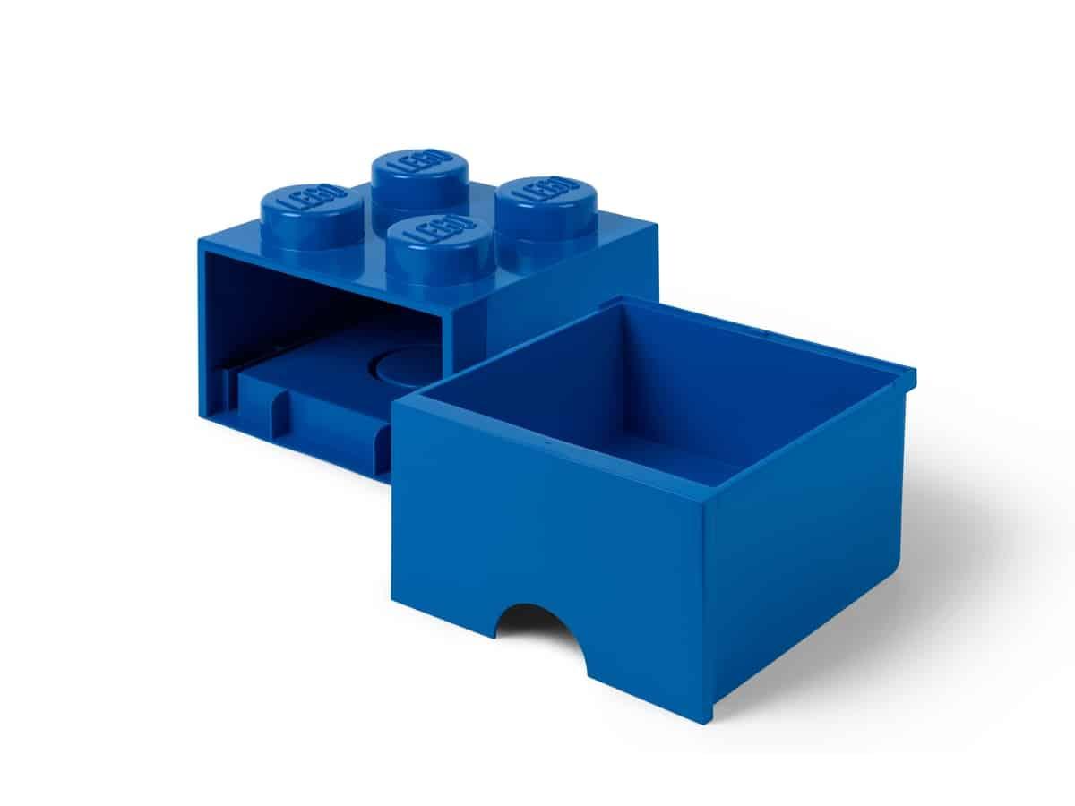 lego 5006130 brique bleue de rangement a tiroir 4 tenons