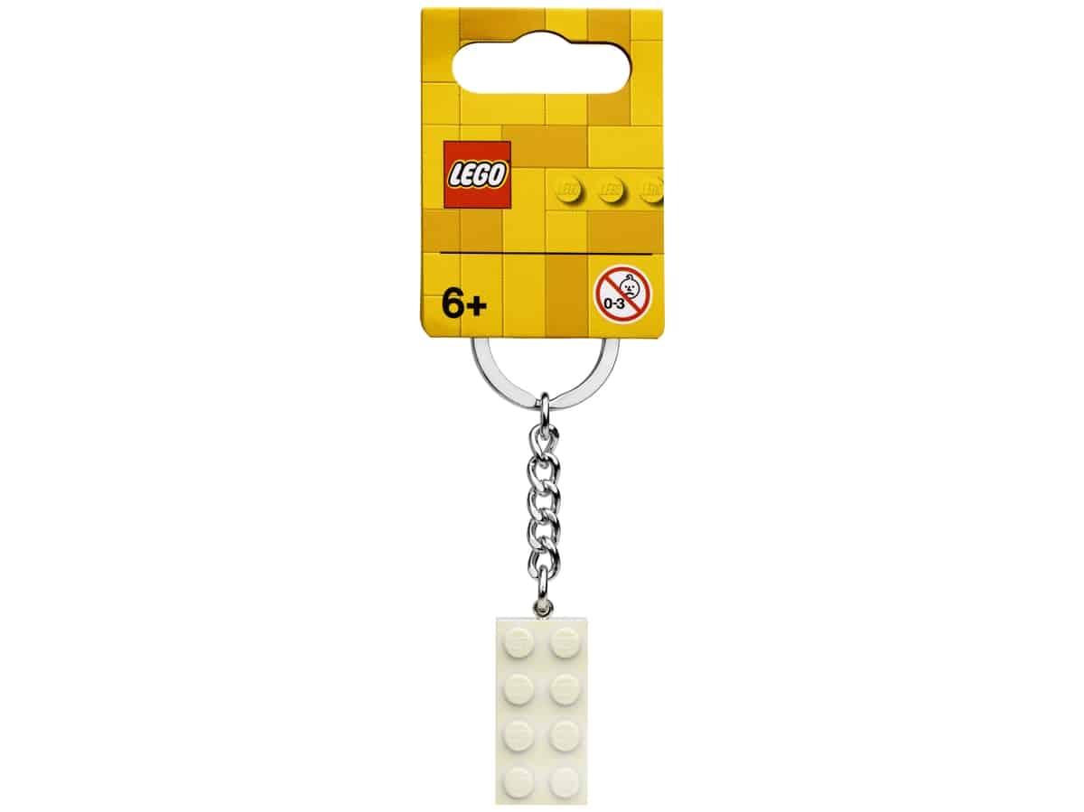 lego 854084 porte cles brique blanche