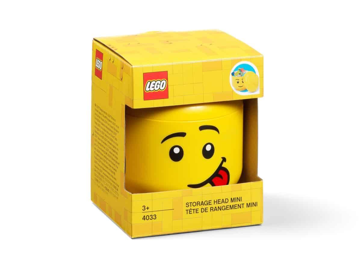 rangement en forme de tete de garcon lego 5006210 mini comique